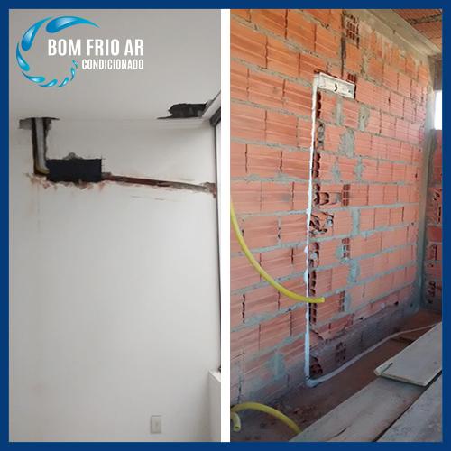 pre instalação ou infra estrutura de ar condicionado