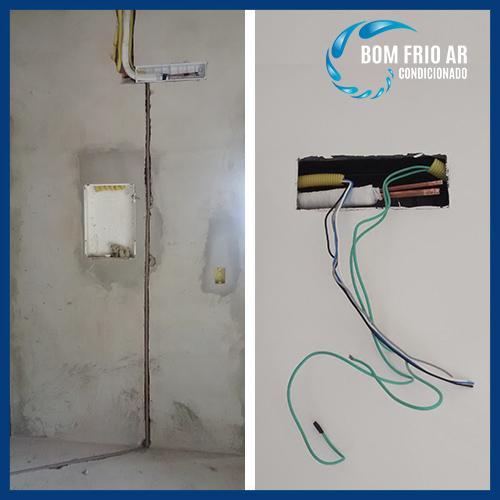 pre instalação de ar condicionado